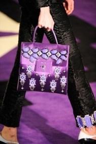 Prada purple embellished bag'12 - flipped