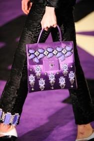Prada purple embellished bag'12