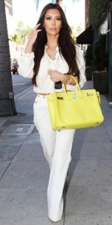 KK looking swanky with yellow bag