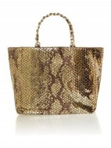 Michael Kors Harper gold tote bag.