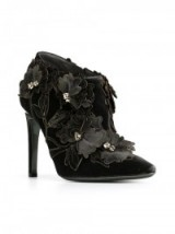 ALBERTA FERRETTI flower appliqué ankle boots. Luxe floral booties | womens luxury fashion | designer footwear  #