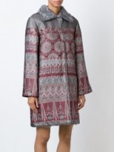 ALBERTA FERRETTI jacquard coat. Luxe fashion | designer coats | womens luxury outerwear  #