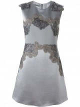 ALBERTA FERRETTI lace appliqué sleeveless dress. Designer dresses | luxe fashion | occasion wear | womens luxury clothing  #