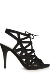 Warehouse lace up cut out heels black. High heeled shoes / going out sandals / stiletto heel / womens footwear #