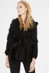 Warehouse black suede Toscana gilet. womens autumn-winter fashion ~ sleeveless jackets – shearling gilets – warm outerwear