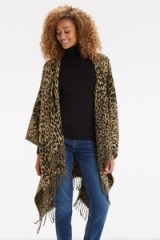 Create some street chic this autumn with an Oasis animal fringed wrap. Leopard prints / jackets