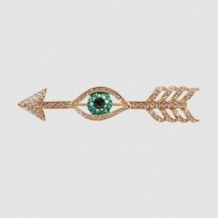 Butler & Wilson arrow & eye crystal brooch – fashion jewellery – brooches – crystals