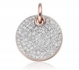 Ava Disc Pendant with pavé set diamonds from Monica Vinader. Luxe style pendants   luxury style jewellery