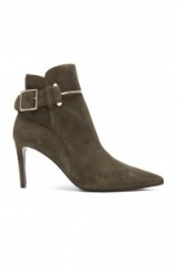 Chic Balenciaga suede booties with side buckle. autumn / winter footwear – designer boots