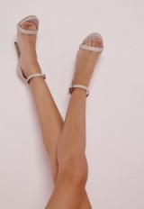 Missguided nude barley there high heeled sandals. Party heels ~ going out shoes ~ evening glamour ~ occasion accessories