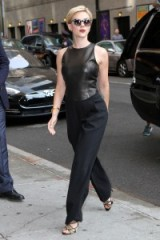 Scarlett Johansson looked chic in black wearing this Michael Kors outfit ~ The Late Show With Stephen Colbert ~ September 2015