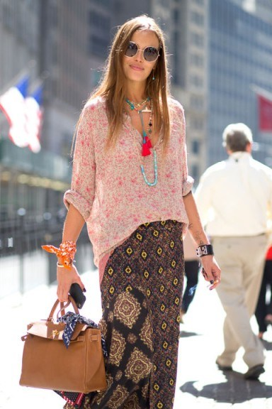 Street style NYFW Spring/Summer 2016. New York Fashion Week | outfit inspiration | mixed prints - flipped
