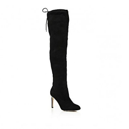 River Island over the knee heeled boots in black. Womens autumn – winter footwear / high heels - flipped