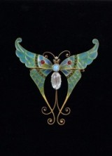 Art Nouveau butterfly brooch – brooches – antique jewellery – butterflies