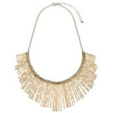 John Lewis Textured Fan Necklace, Gold. Statement necklaces | fashion jewellery | bold jewelry