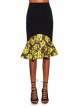 Mary Katrantzou Caladown Rosario-print peplum skirt ~ designer skirts ~ runway fashion ~ luxury clothing