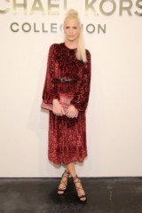 Poppy Delevingne at the Michael Kors Collection S/S 2016 show NYFW. Celebrity fashion   style icons   Front Row celebrities   designer outfits   red dresses