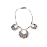 Crystal Crescent necklace from Rodrigo Otazu using Swarovski Crystals. Statement necklaces | fashion jewellery | contemporary style jewelry