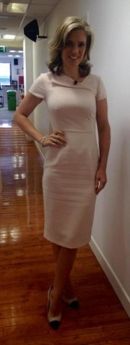 ? Charlotte Hawkins wearing and LK Bennett dress and Dune London shoes #lookinggorgeous ? - flipped