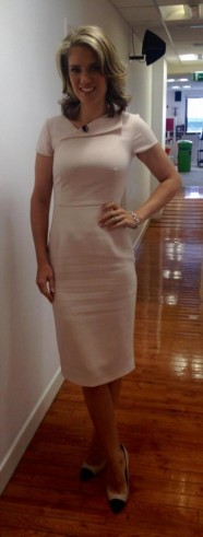 ? Charlotte Hawkins wearing and LK Bennett dress and Dune London shoes #lookinggorgeous ?