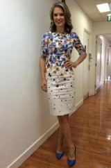 Charlotte Hawkins wears a LK Bennett London dress and Dune London shoes #prettyinwhite  #