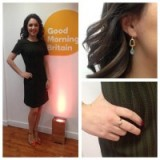 Laura Tobin looking great in a Marks and Spencer dress, Primark shoes, GUESS ring and Oliver Bonas earrings #verystylish #weathergirl