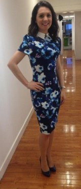 ? Looking fab! – Laura Tobi in a Paper Dolls dress and LK Bennett shoes ?