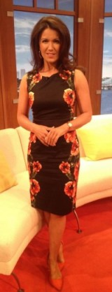 #GMB Susanna Reid looking beautiful in a George At Asda flower dress Next.co.uk shoes. Lovely!