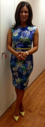 Susanna Reid looking wonderful in and mandco flower dress and yellow Zara heels