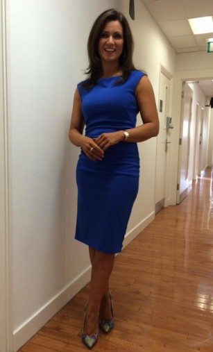 Susanna Reid wears a Jasper Conran from Debenhams dress Office shoes #prettyinblue  #