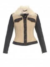 BURBERRY PRORSUM Denim-panel shearling jacket. Designer fashion   womens casual jackets   luxury outerwear