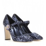Jewelled heels – DOLCE & GABBANA Embellished Mary Jane pumps – designer shoes – luxe footwear – luxury Mary Janes