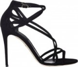 DOLCE & GABBANA Crisscross-Strap Sandals in black suede – as worn by Gigi Hadid at the Harper's Bazaar Icons Party, September 2015. Celebrity fashion | star style | designer shoes | strappy high heels | what celebrities wear