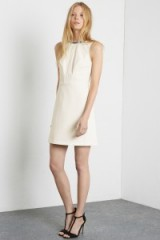 Warehouse embellished V back dress cream. Sleeveless shift dresses / party fashion / occasionwear / going out  #