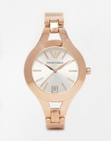 Luxe style womens watches ~ Emporio Armani Rose Gold Chiara Watch. Ladies watches ~ luxury accessories
