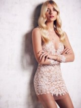 For Love & Lemons Luau white & nude mini dress. Party dresses – occasion fashion – eveningwear