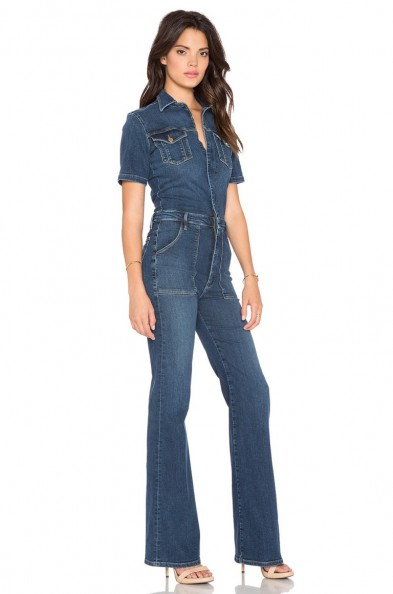 LE FLARE DE FRANCOISE JUMPER – as worn by Kendall Jenner leaving a studio in Van Nuys, 25 September 2015. Casual celebrity fashion | denim jumpsuits | star style | what celebrities wear