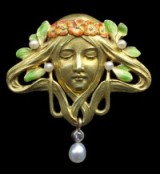 FRIEDRICH ZERRENNER Art Nouveau Brooch – antique jewellery | gold & enamel brooches