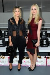 Kara Rose Marshall and Diana Vickers at Jean-Pierre Braganza S/S 2016 LFW. Celebrities at fashion shows | Front Row outfits | celebrity style