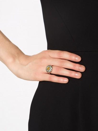 ILEANA MAKRI sapphire cocktail ring. Yellow sapphires   statement rings   fine jewelry   statement jewellery   18k rose gold  #