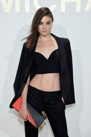 Model Jacquelyn Jablonski looked sensational in black co-ords, at the New Gold Collection Fragrance Launch hosted by Michael Kors, NYC, 13 September 2015. Celebrity fashion / event outfits / star style