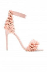 Stunning pink floral applique heels – Jeffrey Campbell Meryl Floral Heel. Party shoes ~ occasion sandals ~ ankle strap footwear ~ evening accessories ~ going out glamour