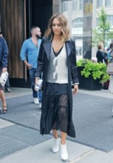 Jessica Alba street style out in New York City, September 2015. Celebrity fashion | star style | outfit inspiration | outfits