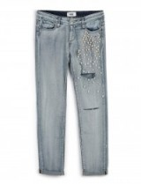 Paige Jimmy Jimmy Skinny – Dolly Embellished jean. Light blue denim jeans | womens casual fashion | destroyed style | ripped