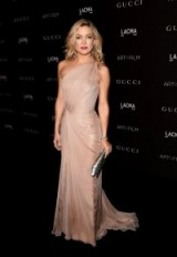 Kate Hudson looks stunning in this pale pink, one shoulder Gucci gown. celebrity fashion ~ star style ~ designer gowns