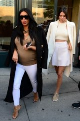 Kim Kardashian and Kendall Jenner keep it chic on their way to the US Open, 8 September, 2015 in New York City. Celebrity street style | star fashion | celebrities
