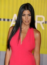 Kourtney Kardashians long sleek hair. Kardashian's hairstyles and make-up / celebrity beauty
