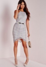 Grey lace bodycon dress from Missguided ~ Luxury looks ~ affordable luxe ~ evening fashion ~ party dresses ~ going out