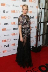 Rachel McAdams in a sheer floral Valentino gown at the Spotlight premiere 2015 TIFF. Celebrity fashion | star style | designer gowns | red carpet events