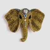 Butler & Wilson large crystal elephant head brooch – fashion jewellery – coloured crystals – brooches